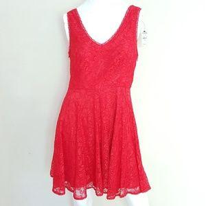 Express Lace Dress V Neck Sleeveless Skater Size 6